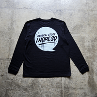 Drip Logo L/S Tee Shirt - Black/Light Gray