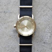 TID No.1 36mm Gold / Black Nylon Wristband