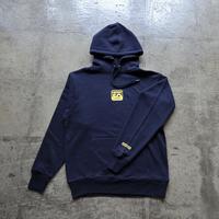 Square Logo Hoodie - Navy/Yellow