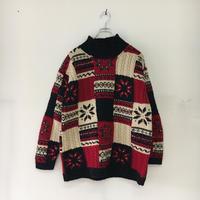 USED● JONES NEW YORK Size M ノルディック ウール セーター ケーブル  Old