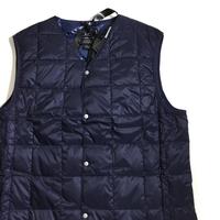 TAION Light Down V-neck Vest Navy Color  / 体温 タイオン ダウンベスト ライトダウン