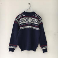 USED● DALE OF NORWAY デイル オブ ノルウェー Wool Nordic Sweater ウール ノルディック セーター ネイビー