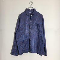 USED● Vintage Pajama Shirts Blue Paisley パジャマシャツ 長袖 スリーピングシャツ ブルー ビンテージ