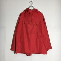 USED● 1970s~ FJELLJOM Pullover Hoodie Jacket Red OPTI Zipper アノラックパーカー プルオーバー ファー部分欠品