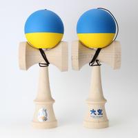 【山形工房】推奨けん玉REShape2   青&黄色