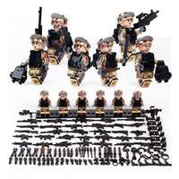 ★激レア!!★ LEGO レゴ 互換 ソルジャー 迷彩色 特殊部隊 砂漠戦 カスタム ミニフィグ 6体セット 大量武器・装備・兵器付き