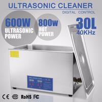 超音波洗浄器 30L デジタル ヒーター/タイマー付き 業務用クリーナー洗浄機