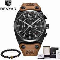 BENYAR 高級海外人気トップブランド 男性 メンズ 防水 クロノグラフ クォーツ式 腕時計