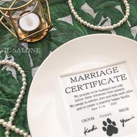 結婚証明書引き出物♡24センチプレート♡20枚以上から@3850