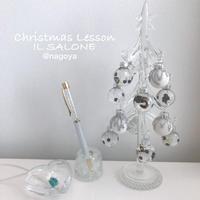 クリスマスガラスツリーLESSON♡  シャネルverゴールド♡イルサローネアレンジ