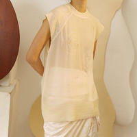 2colors - tulle natural pearl vest
