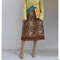 retro leopard lace skirt