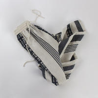 linen stripe casual pants