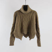 high-neck twist sweater