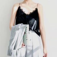 Velvet lace camisole