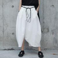arc snaped linen pants skirt