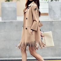 tassel double coat