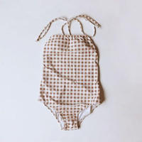 2color-lattice one-pieces swimsuit