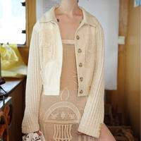 knit sleeve short jacket