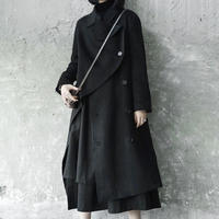 edge cut fleece coat jacket