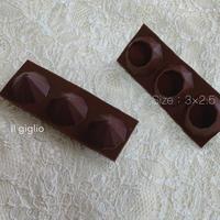 キャンドル用シリコンモールド ダイヤ型3個セット