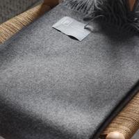 【新品】Baby Alpaca ベビーアルパカ 100% ブランケット デンマーク Danish Art Weaving社 ダークグレー alpaca_435_12252018