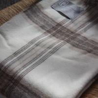 【新品】Baby Alpaca ベビーアルパカ 100% ブランケット デンマーク Danish Art Weaving社 ナチュラル/ブラウン alpaca_85_12252018
