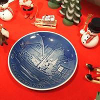 【ヴィンテージ】B&G ビングオーグレンダール クリスマスプレート 1976  I-954-171214