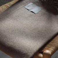 【新品】Baby Alpaca ベビーアルパカ 100% ブランケット デンマーク Danish Art Weaving社 サンド alpaca_284_12252018