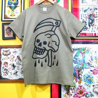 ILL-REAPER logo tee shirt  (Khaki)