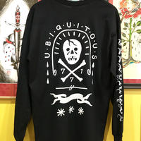 """UBIQUITOUS""  long sleeve tee (BLACK)"