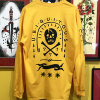 """UBIQUITOUS "" long sleeve tee (GOLD YELLOW)"