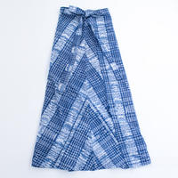 コルテスカートMaxi/インディゴ絣/2133(四角刺繍入り)