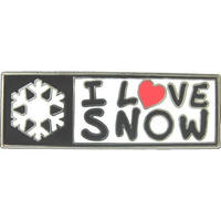 I LOVE SNOW オフィシャル ピンバッチ