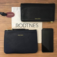 【RODTNES】ロドネス  Small Pouch Navy blue クラッチバッグ、ポーチ