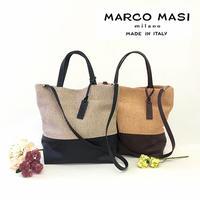 MARCO MASI 2863 [マルコマージ] レディース かごバッグ トートバッグ ブランド 肩掛け 鞄 大容量 バッグ 2wayショルダーバッグ ハンドバッグ [イタリア製]