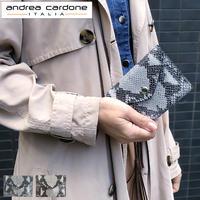 andorea cardone M413 Python [アンドレアカルドネ] 折り畳み財布 レディース ブランド [イタリア製]