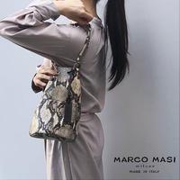 MARCO MASI 3013 マルコマージ トートバッグ ハンドバッグ ショルダー 肩掛け ブランド パイソン 蛇柄 縦型 鞄 レザー 牛革 本革 イタリア製
