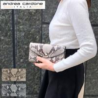 andorea cardone M412 Python [アンドレアカルドネ] 長財布 財布 長財布 アンドレアカルドーネ レオパード 蛇柄 ウォレット プレゼント インポート [イタリア製]