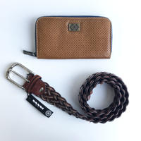 【2020年】[オロビアンコ / ナンニ] [福袋2万円] 財布とベルト (ブラウン/90cm) のセット