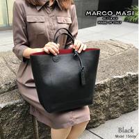 MARCO MASI 3084 マルコマージ トートバッグ ハンドバッグ ブランド レザー 鞄 シンプル 本革 ブラック グレー