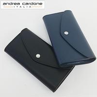 andorea cardone M412 Saffiano [アンドレアカルドネ] 財布 長財布 レディース シンプル 無地 ウォレット プレゼント インポート レザー [イタリア製]