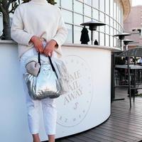 【VERDINO  PARIS】ヴェルディーノ Light Papillon  Argento ライト    ハンドバッグ     シルバー