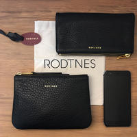 【RODTNES】ロドネス  Small Pouch Black クラッチバッグ、ポーチ