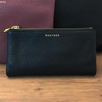 【RODTNES】 ロドネス Fold-Over purse Black スモールクラッチバッグ、長財布