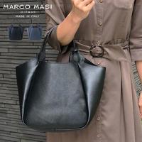MARCO MASI 2140 マルコマージ トートバッグ ハンドバッグ ブランド レザー 鞄 シンプル 本革 ブラック ネイビー