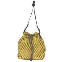 【VERDINO  PARIS】ヴェルディーノ Hexagone Bucket   Yellow/Grey ヘキサゴン/幾何学模様  巾着バッグ  イエロー/グレー