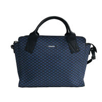 【VERDINO  PARIS】ヴェルディーノ Hexagone Lady bag   Navy/Navy ヘキサゴン/幾何学模様   スクエアバッグ   ネイビー/ネイビー