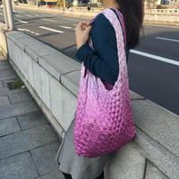 【京shibori bag byÄmont】三浦しぼり(大)グラデーション ふじ