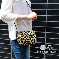 MARCO MASI 3083 マルコマージ ポシェット ヒョウ柄 レオパード シルバー きらきら ショルダー 肩掛け ミニバッグ コンパクト パーティ バッグ ブランド レディース 鞄